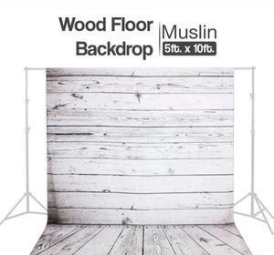 Muslin Backdrop. Wood Floors Design 5X10